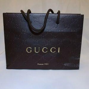 Gucci & Ralph Lauren small paper shopping bags